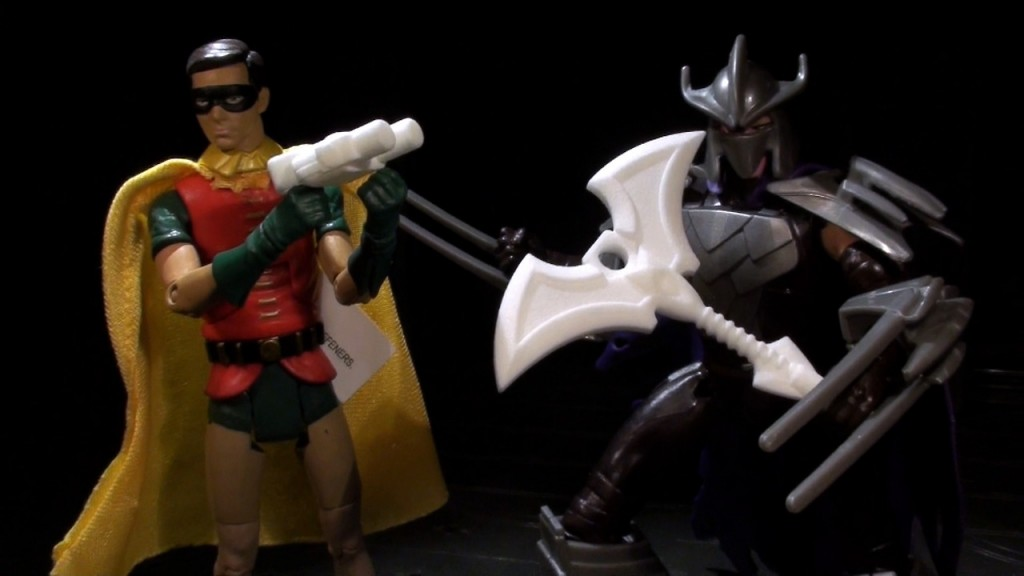 Robin & Shredder w/ BMOG weapon components ..