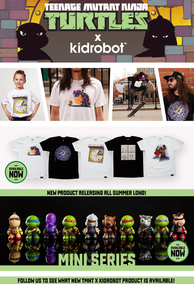 KR x TMNT mini-series & apparel !!