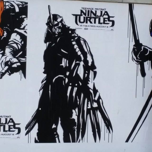 TMNT Movie Street Art posters..