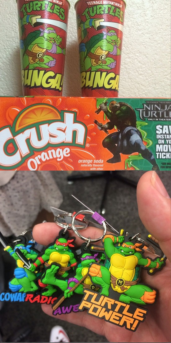 Courtesy of TMNT Hunter :: TMNT Movie Crush promo, Fryes Keaychains