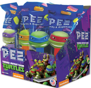 Nick Turtles PEZ display ..
