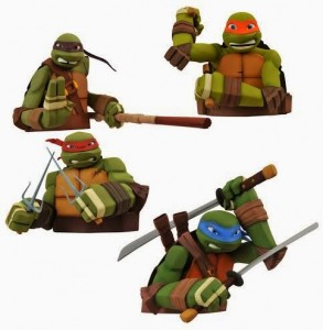 Diamond Select Teenage Mutant Ninja Turtles Vinyl Bust Banks